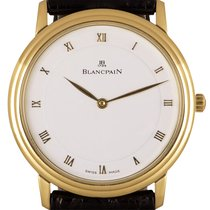 Blancpain Villeret Желтое золото 34mm Белый Римские