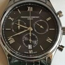 Frederique Constant Classics Chronograph Steel 40mm Black Arabic numerals