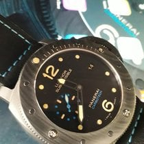Panerai Luminor Submersible 1950 3 Days Automatic Carbone 47mm Noir Arabes France, ANDRESY
