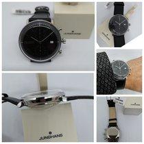 Junghans max bill Chronoscope Steel 40mm Black No numerals