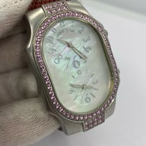 Philip Stein Philip Stein Signature Mother of Pearl  Diamond Teslar Watch tweedehands