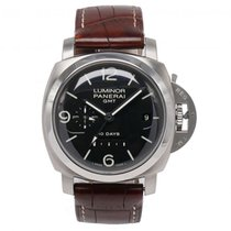 Panerai Luminor 1950 10 Days GMT Otel 44mm Negru