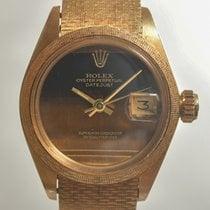 Rolex Datejust Ouro amarelo 26mm Castanho Sem números
