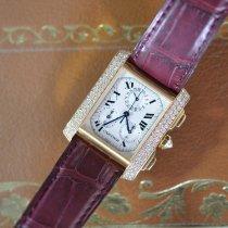 Cartier Tank Française new 2000 Quartz Chronograph Watch with original box and original papers WE101151