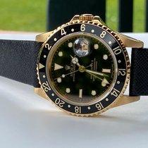 Rolex GMT-Master II Gelbgold 40mm Schwarz Keine Ziffern