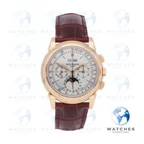 Patek Philippe Perpetual Calendar Chronograph Rose gold 40mm Silver United States of America, New York