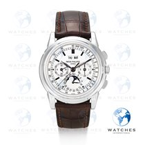 Patek Philippe Perpetual Calendar Chronograph White gold 40mm Silver United States of America, New York, New York