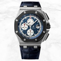 Audemars Piguet Royal Oak Offshore Chronograph Platinum 44mm Blue No numerals