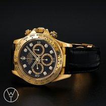 Rolex Gelbgold Automatik Schwarz 40mm gebraucht Daytona