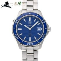TAG Heuer Steel Automatic Blue 41mm pre-owned Aquaracer 500M