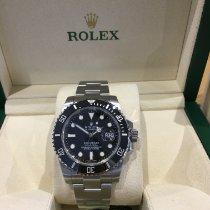 Rolex Céramique Remontage automatique Noir Sans chiffres 40mm occasion Submariner Date