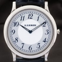 L.Leroy Or blanc 40mm Remontage manuel 31 KA 0046 occasion France, Paris