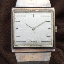 Hermès Silber Handaufzug 36mm gebraucht