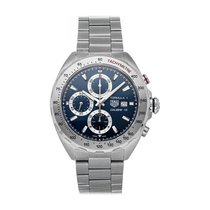 TAG Heuer Formula 1 Calibre 16 pre-owned 44mm Blue Chronograph Date Fold clasp