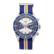 Tudor Heritage Chrono Blue Steel 42mm Silver No numerals