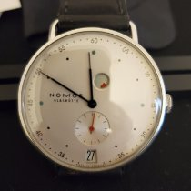 NOMOS 1101 Steel Metro Datum Gangreserve pre-owned