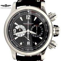 Jaeger-LeCoultre Steel Automatic Black Arabic numerals 41.5mm pre-owned Master Compressor Chronograph