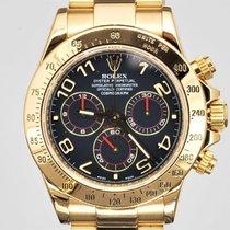 Rolex Daytona Yellow gold 40mm Blue No numerals