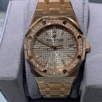 Audemars Piguet Royal Oak Lady Pозовое золото 37mm Cерый Без цифр