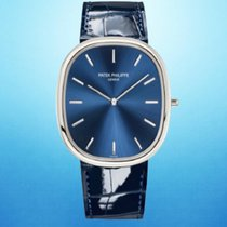 Patek Philippe Golden Ellipse Platinum 34.5mm Blue No numerals United States of America, New York, New York