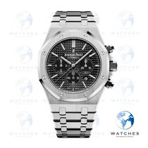 Audemars Piguet Royal Oak Chronograph Acero 41mm Negro Sin cifras