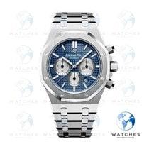 Audemars Piguet Royal Oak Chronograph Acier 41mm Bleu Sans chiffres