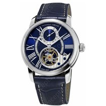 Frederique Constant Manufacture Heart Beat Acciaio 42mm Blu Romano