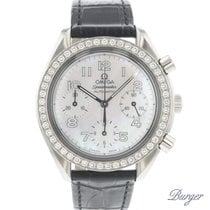 Omega Speedmaster Ladies Chronograph occasion 39mm Nacre Chronographe Cuir de crocodile