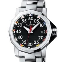 Corum Admiral's Cup Competition 40 Stal 40mm Czarny Arabskie