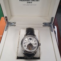 Frederique Constant Steel Automatic Silver Roman numerals 42mm pre-owned Manufacture Heart Beat