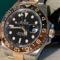 劳力士 GMT-Master II 金/钢 40mm 黑色 无数字