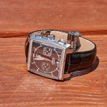 TAG Heuer Monaco Calibre 12 Steel 39mm Black No numerals United States of America, Massachusetts, Waltham