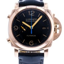 Panerai Luminor 1950 3 Days Chrono Flyback pre-owned 44mm Black Date Leather