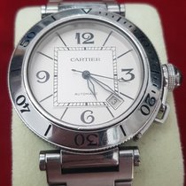 Cartier Pasha Seatimer Acero 40mm Negro Arábigos España, Armilla