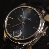H.Moser & Cie. Endeavour Platino 40.8mm Azul Sin cifras