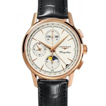 Longines Flagship Heritage Rose gold Silver No numerals