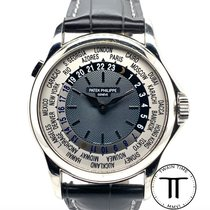 Patek Philippe World Time Platinum 37mm Blue No numerals United States of America, New York, New York