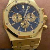 Audemars Piguet Royal Oak Chronograph Or jaune 41mm Bleu Sans chiffres France, Paris