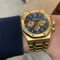 Audemars Piguet Or jaune Remontage automatique Bleu Sans chiffres 41mm occasion Royal Oak Chronograph