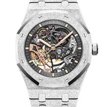 Audemars Piguet White gold Automatic Transparent No numerals 41mm new Royal Oak Double Balance Wheel Openworked