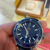 Omega Seamaster Planet Ocean pre-owned 43.5mm Blue Date Leather