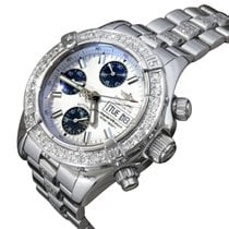 Breitling Superocean Chronograph II Steel 42mm Silver No numerals United States of America, New York, NEW YORK CITY