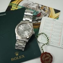 Rolex Datejust Turn-O-Graph pre-owned 37mm Silver Date Steel