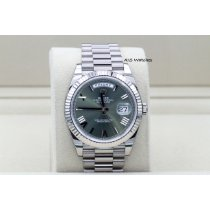 Rolex Day-Date 40 pre-owned 40mm Green