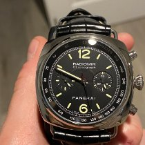 Panerai Radiomir Chronograph pre-owned 45mm Black Chronograph Fold clasp