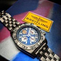 Breitling Chronomat 44 Steel 43mm Blue No numerals