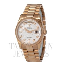 Rolex Rose gold Automatic 36mm pre-owned Day-Date 36