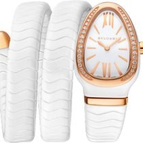 Bulgari Serpenti Ceramic 35mm White
