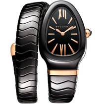 Bulgari Serpenti Ceramic 35mm Black