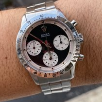 Rolex Daytona Stål 37mm Sort Ingen tal